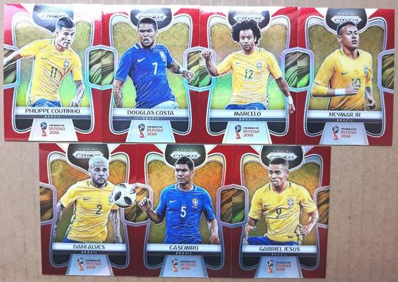 7 Cards Prizm Brasil Série Vermelho #/149 Copa Do Mundo 2018