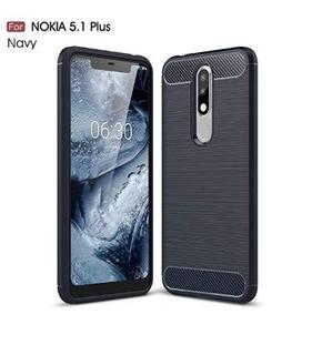 Funda Tpu Nokia 5.1 Plus Original Fibra De Carbono Excelente