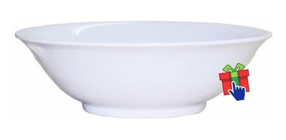 Ensaladera 20cm Melamina Blanca Plastico Grueso Bowl