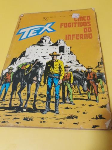 Tex N. 29 Prim. Ed. - Cinco Fugitivos Do Inferno (item 45)