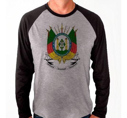 Camiseta Raglan Manga Longa Camisa Rio Grande Do Sul Brazão