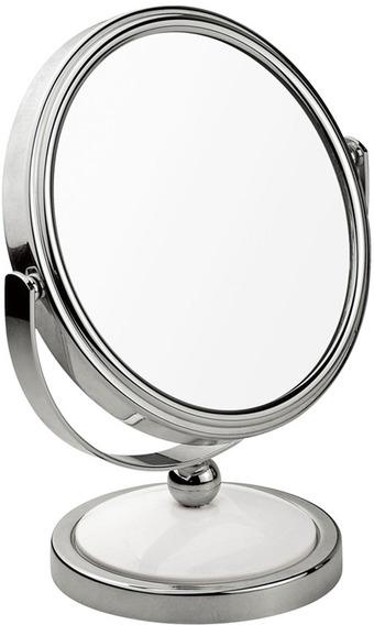 Espelho Aumento 2x Dupla Face De Mesa Multiuso Maquiagem Mor