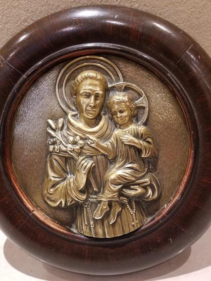 Antigua Imagen Religiosa De Bronce San Cayetano.