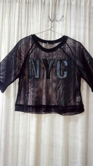 Remera Corta T Medium Nueva Unica!