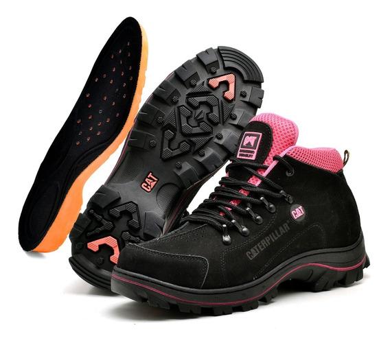 Boots Botina Caterpillar Girl Extrema Para Trilha Escalada