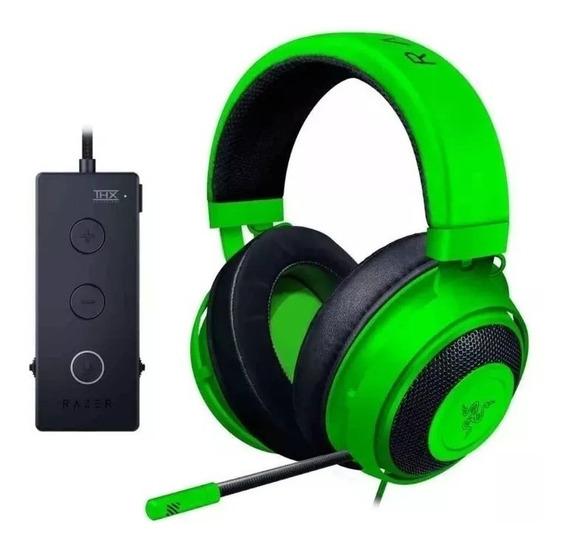 Headset Thx Razer Kraken Tournament Wired Green Usb Pc Ps4