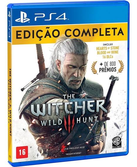 The Witcher 3 Wild Hunt Ps4 Mídia Física Edição Completa