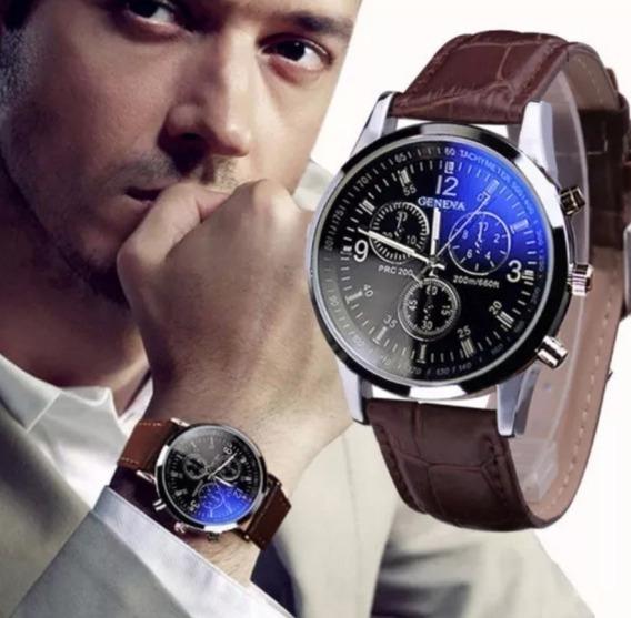 Relógios Masculino Geneva Pulseira De Couro