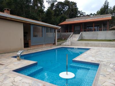 Chácara Ibiúna 1.000 Mts Casa Nova,piscina Ótima Localização