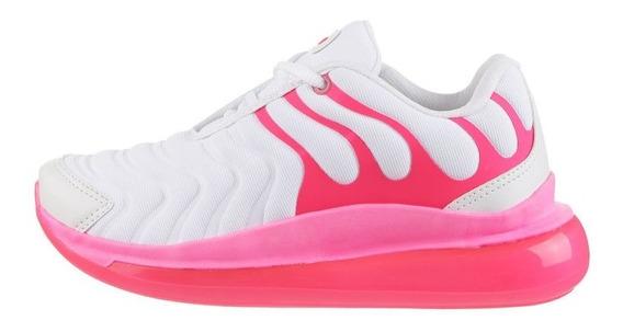 Zapatillas Mujer 47 Street Force Blanco Fucsia Envio Gratis
