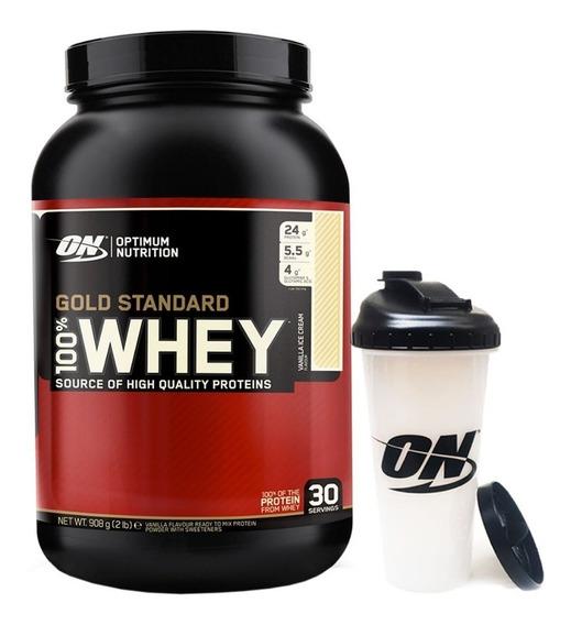 Proteina Whey Gold Standard 2 Lb + Vaso Optimum