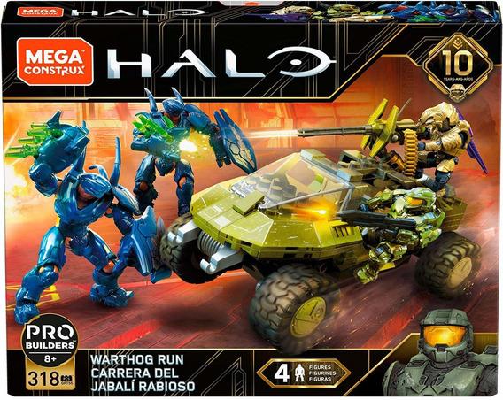 Mega Construx Halo 10 Años La Mision Del Warthog 318 Piezas