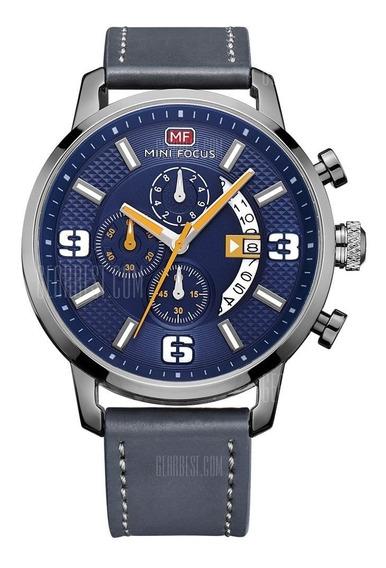 Mini Focus Mf0025g 4296 Relógio Clássico Com Pulseira De Cou