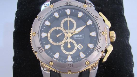 Relógio Orient Em Titânio Pulseira Silicone Mttpc001