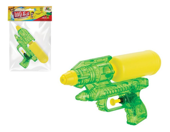 Pistola Lança Água Infantil Colorida Transparente
