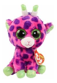 Mochila De Pelúcia Ty Fashion Girafa Gilbert Rainbow