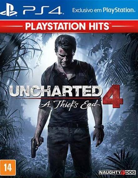 Uncharted 4: A Thiefs End - Ps4 - Mídia Física