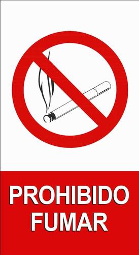Prohibido Fumar - Cartel De Chapa Chico