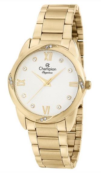 Relógio Feminino Dourado Champion Cn25958h