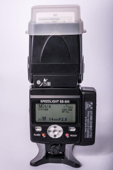 Flash Nikon Sb800 Sb-800 Novíssimo