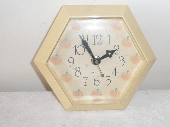 Antiguo Reloj De Pared Westclox Para Cocina Vintage 70´s
