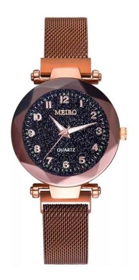 Kit 10 Relógio Quartz Imã Magnetico Feminino Lindo