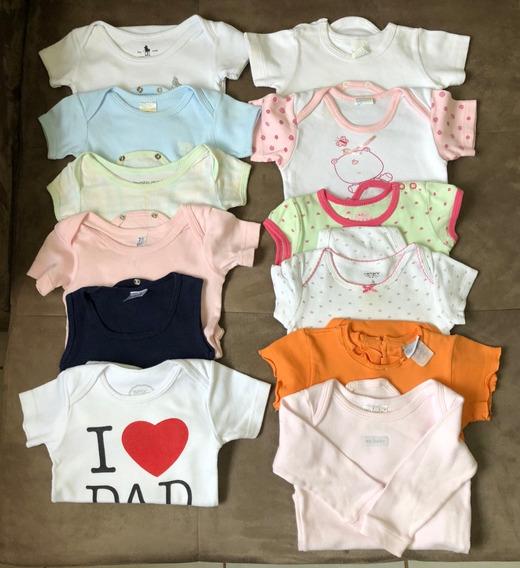 Lote Kit 12 Bodys Bodies Infantil Bebê - M