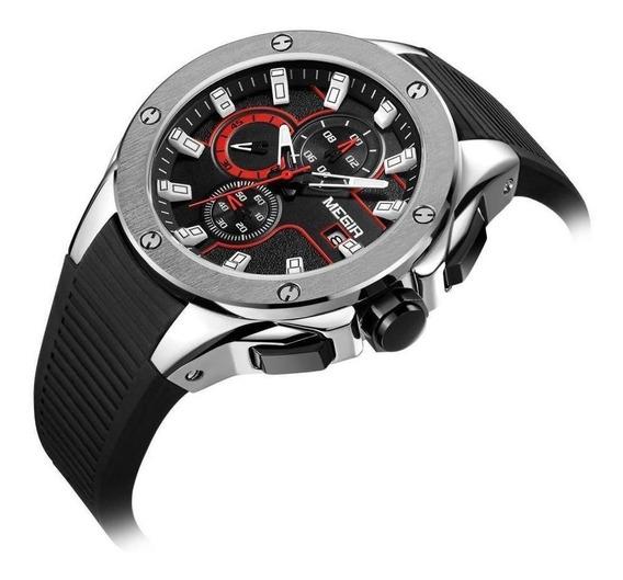 Relógio Megir Original Modelo 2053 Com Cronógrafo