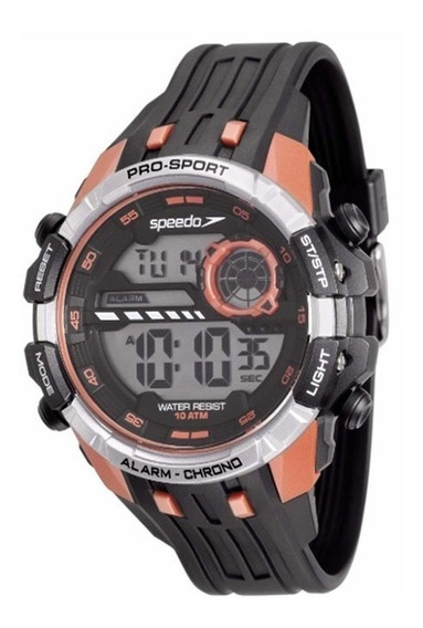 Relógio Masculino Speedo 80613g0evnp2 - Preto/laranja