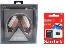 Kit Headphone Wireless Cartão Tf Atende Ligação Bt 008 Novo