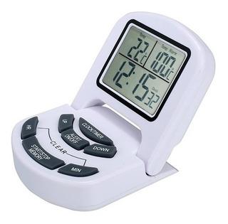 Termometro Cozinha Culinario Com Sonda Relogio Profissional