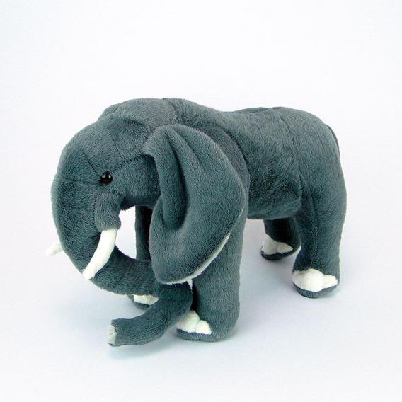 Elefante De Pelúcia Realístico 35cm - Bichinho Safari