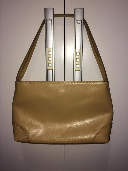 Bolsa Em Couro Legitimo Bege - Marca Smart Bag Novissima.