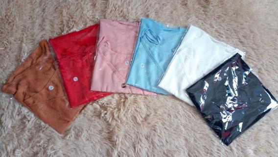 Kit 3 Regatas Blusa T Shirt Renda Camisetas Alça Femininas