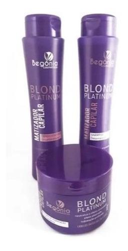 La Kit Blond Platinum Matizador Capilar Begônia