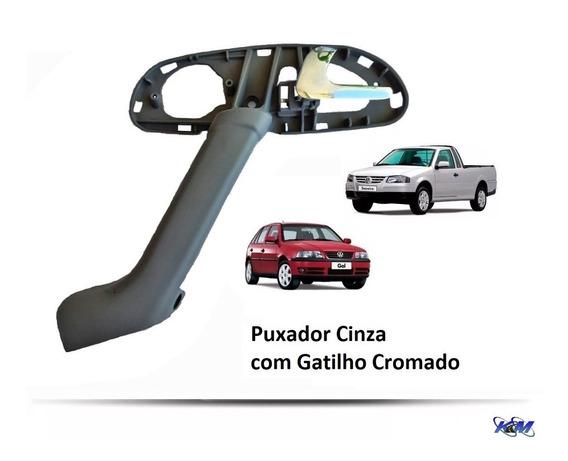 Apoio Puxador De Porta Cinza - Gol Saveiro Parati G3 Com Gatilho Cromado