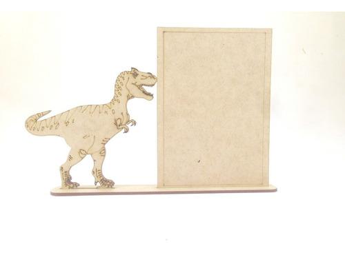 Imagem 1 de 4 de 30 Porta Retrato Com Base Festa Infantil Mdf Dinossauro Rex