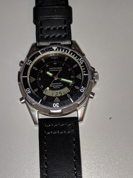 Relógio Technos Skydiver Anos 80 Relíquia Funcionando
