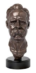 Escultura Busto Nietzsche Filosofia Bronze Presente