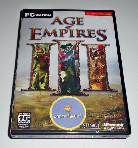 Age Of Empires 3 ¦ Jogo Pc Original Lacrado ¦ Mídia Física