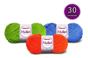 Lã Mollet 40g Círculo Kit 30 Novelos * Escolha As Cores.