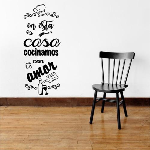Vinilo Decorativo De Pared En Esta Casa Cocinamosconamormod2