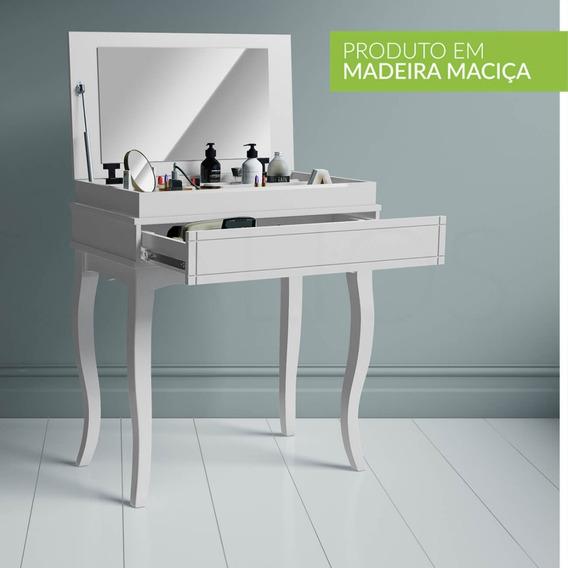 Penteadeira De Maquiagem Com Espelho, Gaveta E Divisórias