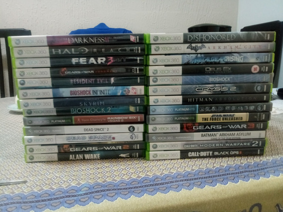 2 Jogos Xbox 360 Midia Fisica Usado Original