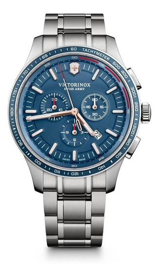 Relógio Victorinox 241817 Alliance Sport Crono Prata Origina