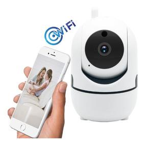 Camera Ip Hd Wifi Sem Fio Hd 128gb Acesso Remoto Celular