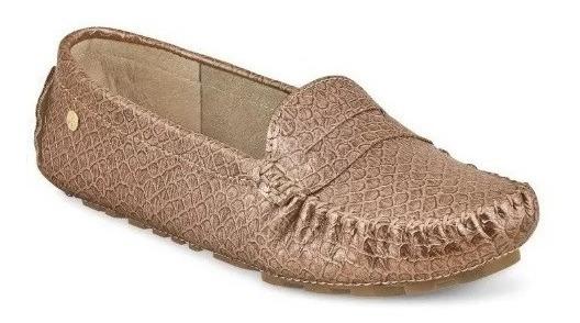 Calzado Zapato Flat Dama Mujer Comodo Animal Print Bronce