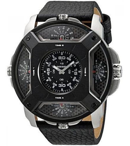 Relógio Diesel Dz7384 Prata Aço Inox Couro - Lens 5 Time