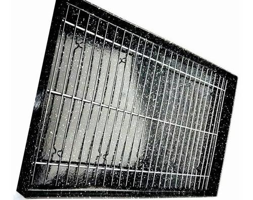 Asadera Enlozada 34x68x4,5 Con Rejilla Para Todos Los Hornos
