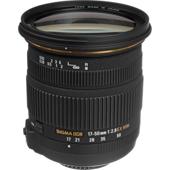 Lente Sigma 17-50mm F/2.8 P/ Dslr Nikon Com Sensor Aps-c